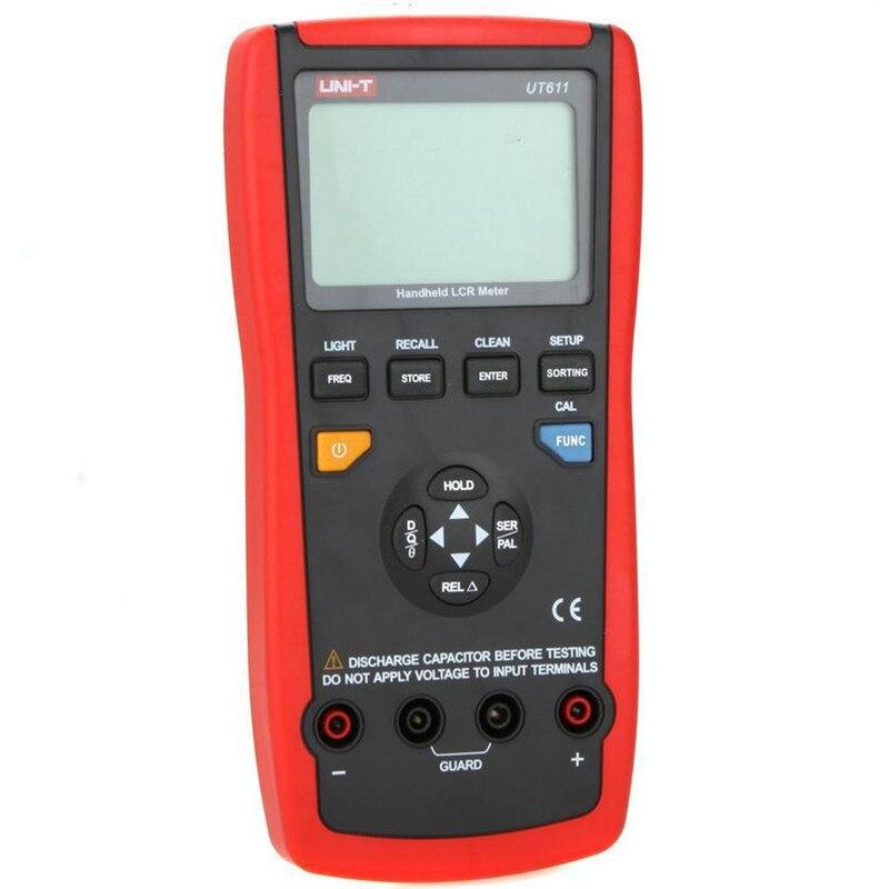 Mètre portatif tenu dans la main de LCR 10 KHz résistance de capacité d'inductance L C R DCR Q D Theta ESR testeur UNI-T UT611 - 2