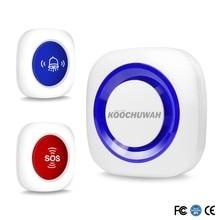 Koochuwah Беспроводной тревожная кнопка для экстренного пожилых ожерелье SOS Аварийная кнопка тревожной сигнализации звуковой сигнал для пожилых людей отключить