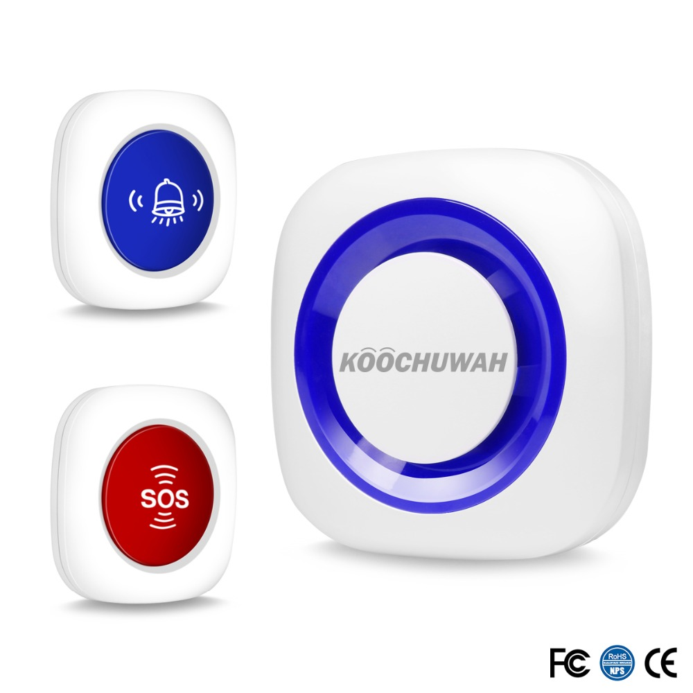 Koochuwah Wireless SOS Panic Button for Emergency Elderly SOS Necklace Panic Alarm Button Sound Alert for Old People Disable