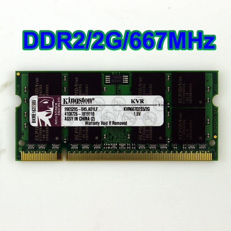 4 GB 4GB 2x 2GB 2 GB DDR2 667MHz PC2-5300 200pin SODIMM Laptop Memory Intel RAM