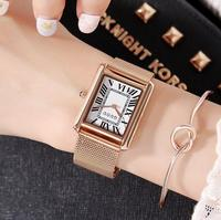 New Fashion High Quality Slim Watches Women Luxury Brand Stainless Steel Bracelet Thin Ladies Watch Quartz