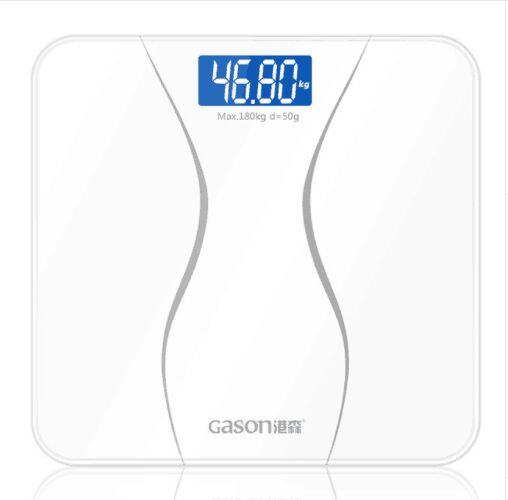 1pcs GASON A2 Bathroom Floor Body Scale Glass Smart Household Electronic Digital Weight Balance Bariatric LCD Display 180KG/50G