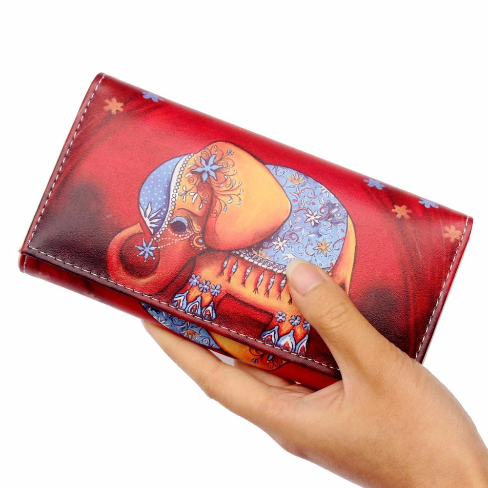 NEW Cute PU Leather Elephant Purses Women Wallets Long Design Clutch Cowhide Wallet Fashion Female Purse Phone card holder Bags free shipping new women s wallet cowhide genuine leather wallet for women famous brand wallet plaid shape hot cute women purses