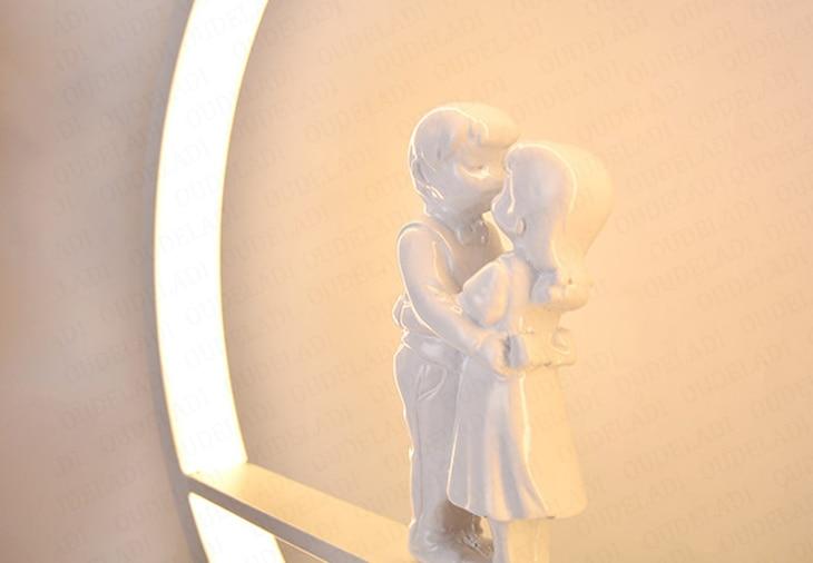 Anjo lâmpada de mesa quarto cabeceira luz