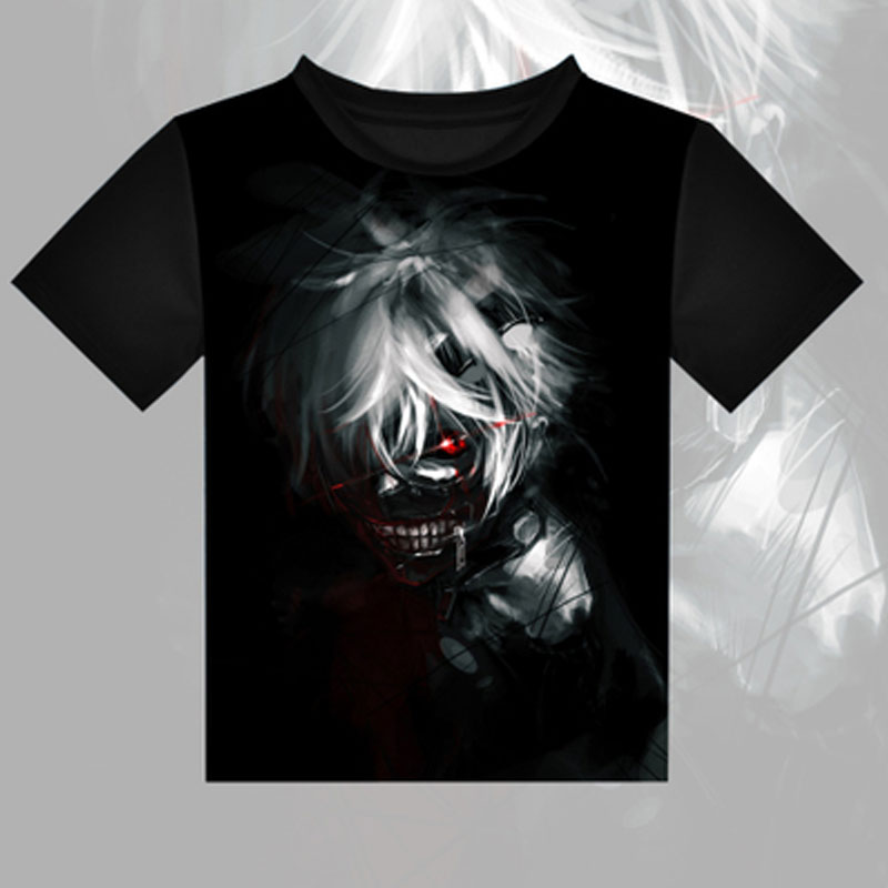 Tokyo Ghoul T-shirts Anime Kirishima Touka Kaneki Ken Cosplay T shirt Casual Breathable Tops Tees New