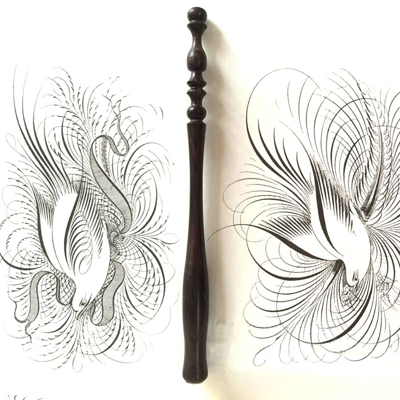 10 Pieces Fo A Lot English Professional Wood Carving Calligraphy Dip Pen Holders Straight Round Rod Body Italy Gothic Dip Pens