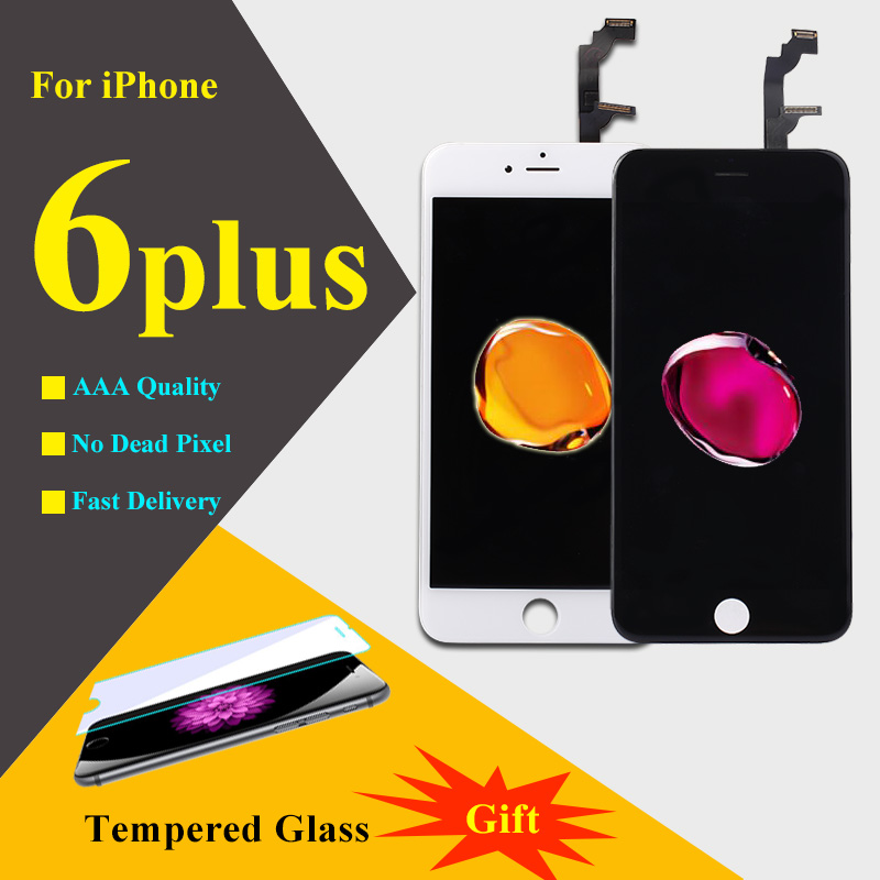 5.5 Inch For Iphone 6 Plus Lcd Replacement Screen Mobile Phone LCDs Display Touch Screen Digitizer Assembly 100% Best Quality omg aaa replacement mobile phone lcd screen for iphone 6 4 7 inch display with digitizer touch smart phone screen assembly