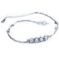 Sinya 925 Sterling Silver Lucky Beads Anklets For Women Girls Lover Gift 22cm 5cm Korean Creative