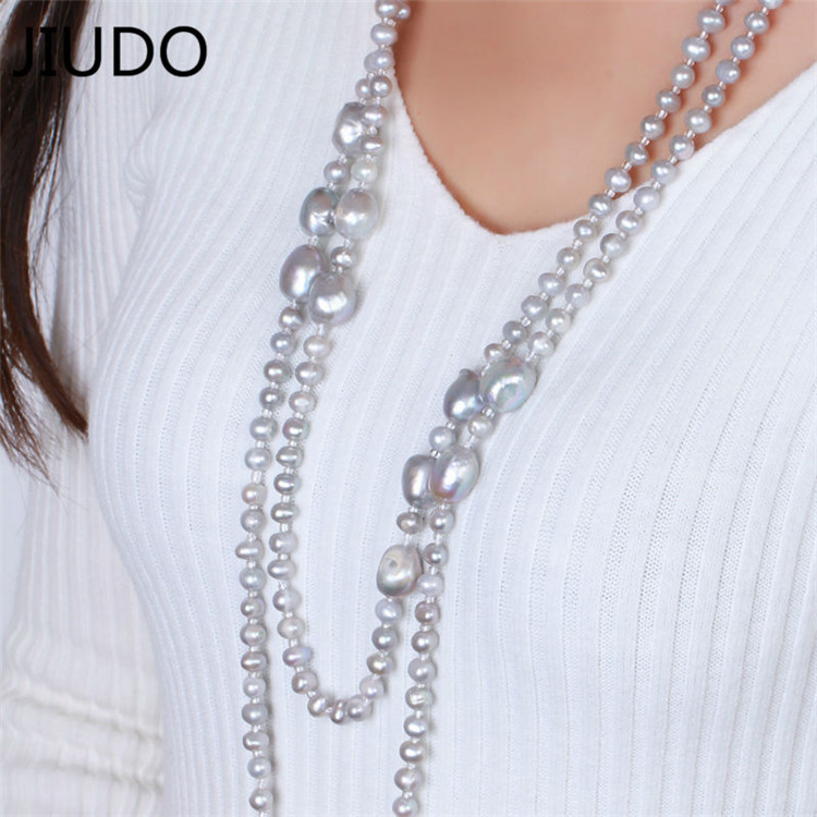 Color bead European and American fashion crystal necklace female long section necklace popular accessories pendant sweater цены