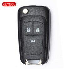 Keyecu удаленное Ключи Fob 3 Button 433 мГц ID46 для Opel Astra J, каскад Vauxhall Insignia, 2009-2015 HU100 лезвие