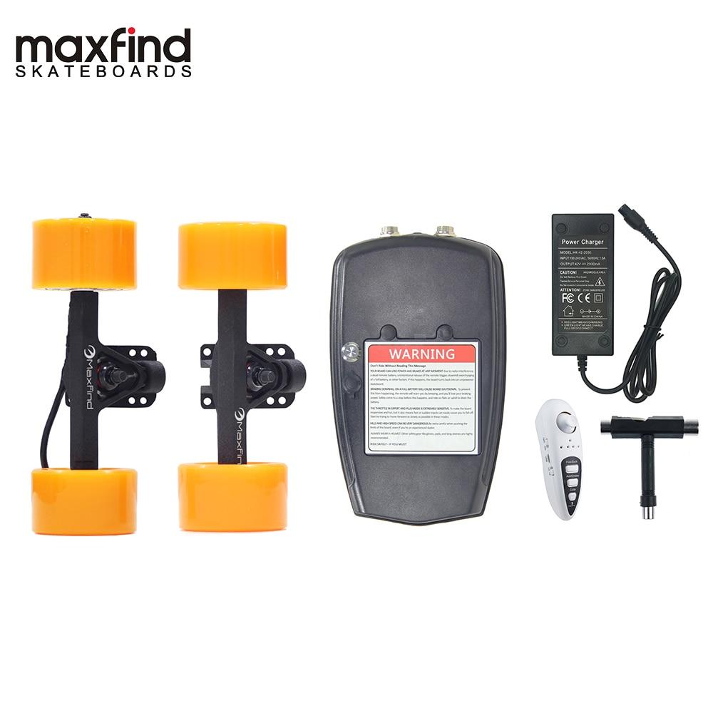 Maxfound bricolage Kit d'entraînement de planche à roulettes électrique moteur à moyeu unique 500 W vitesse maximale 22 km/h