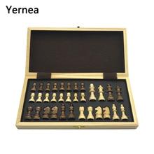 Шахматы деревянные шахматные доски цельные деревянные части складные шахматная доска High-end головоломки шахматы игры Yernea