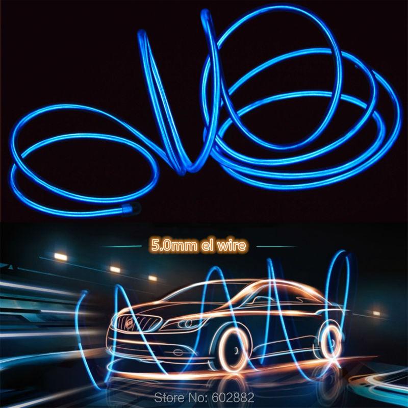 3Meter 5.0mm el cable + + 3v AA Inversor de batería + Orden de - Iluminación LED
