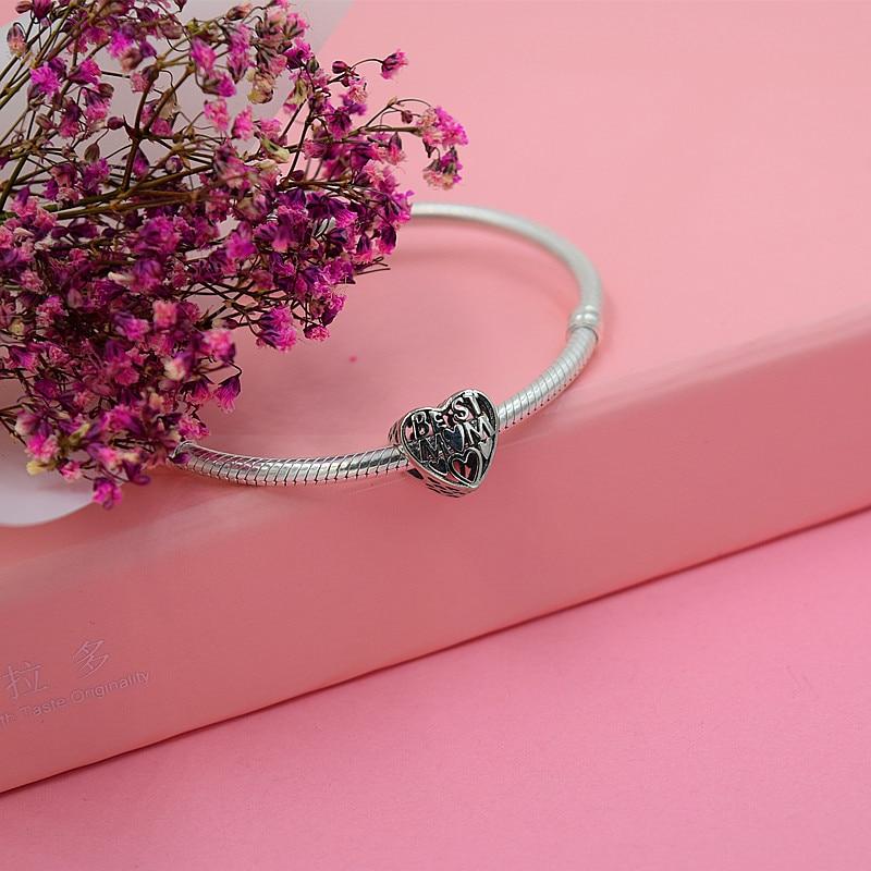 smyckeskapning Handgjorda blommor diy pärlor Passar pulseira pandora - Märkessmycken - Foto 4
