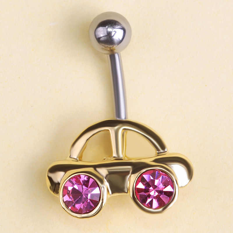 คริสตัลรถยนต์รูปร่างแหวนพลอยเครื่องประดับเจาะ Navel Belly ปุ่มแหวน Piercing Belly Bar จำนวนมากเซ็กซี่อุปกรณ์เสริม