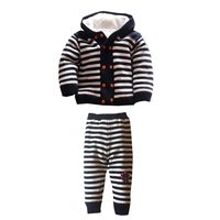 Children Sweater Baby Girls Clothing Set Thick Warm Kids Caual Winter Coat+Pants Fashion Style Boy Clothes Set XL53