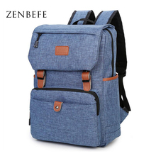 ZENBEFE Vintage Backpack Men'S Travel Backpacks Durable Travel Bag Leisure Daypacks Bags Rucksack Teenagers School Bags Mochila