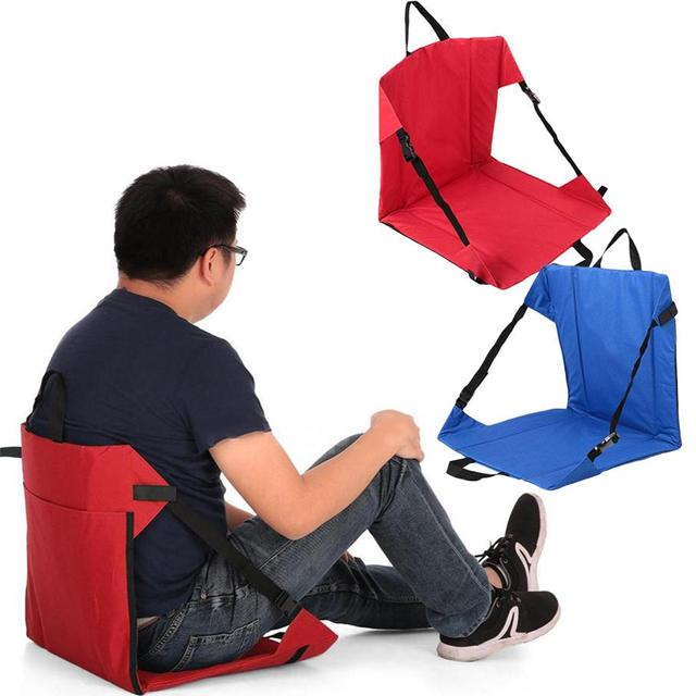 portable folding chairs parson chair cover clip on camping picnic outdoor side hiking fishing seat tool
