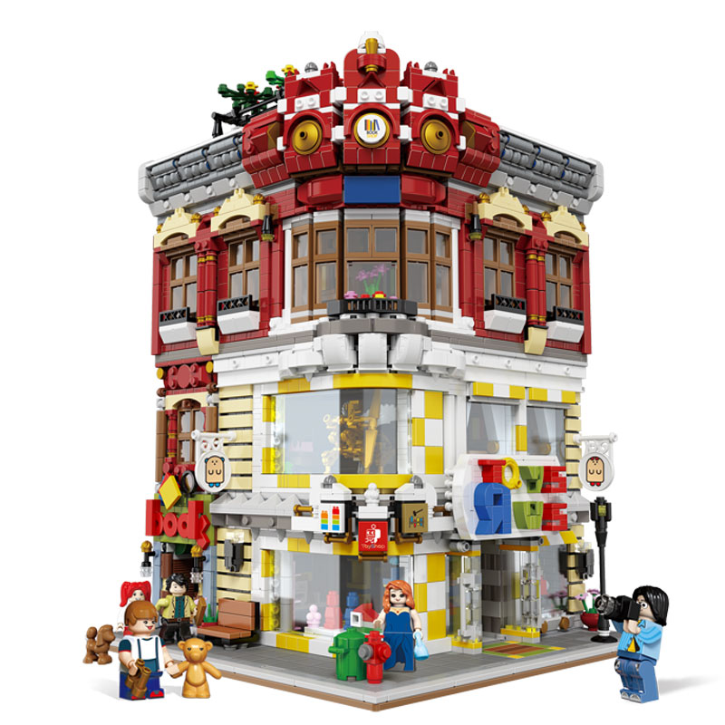 DHL XINGBAO 01006 Chinese Architecture Toys The Toys and Bookstore Set Building Blocks Bricks Assembly Kids