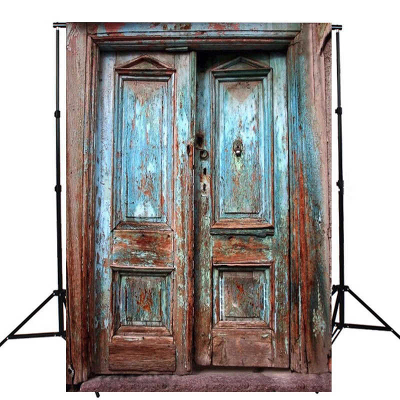 Mayitr 1pc 5x7ft Retro Wood Door Wall Photography Background Waterproof Vinyl Old Door Backdrops for Photo Studio Props retro background brick wall photo studio vintage photography backdrops chinese style photo props vinyl 5x7ft or 3x5ft jiegq210
