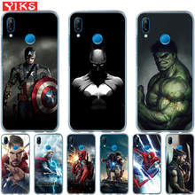 Luxury Marvel Avengers Heroes For Huawei P20 P10 P9 P8 Lite 2017 Mate 10 9 Lite Pro Plus Cover Case Pattern Coque Etui Fundas(China)