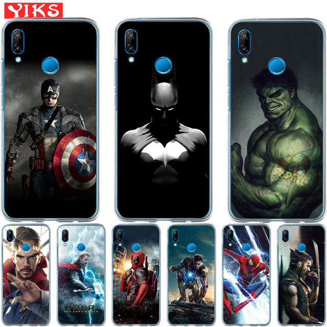 Luxury Marvel Avengers Heroes For Huawei P20 P10 P9 P8 Lite 2017 Mate 10 9 Lite Pro Plus Cover Case Pattern Coque Etui Fundas