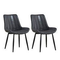 2pcs Modern Kitchen Dining Chair Comfortable Sponge Cushion Seat Steel Legs Elastic Coushion Chair For Office Study Room