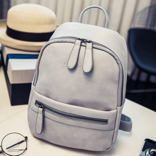 Небольшой опрятный стиль конфеты цвет рюкзак hotsale молния простой женщины сумка дамы мобильный студент школы рюкзаки AXB04