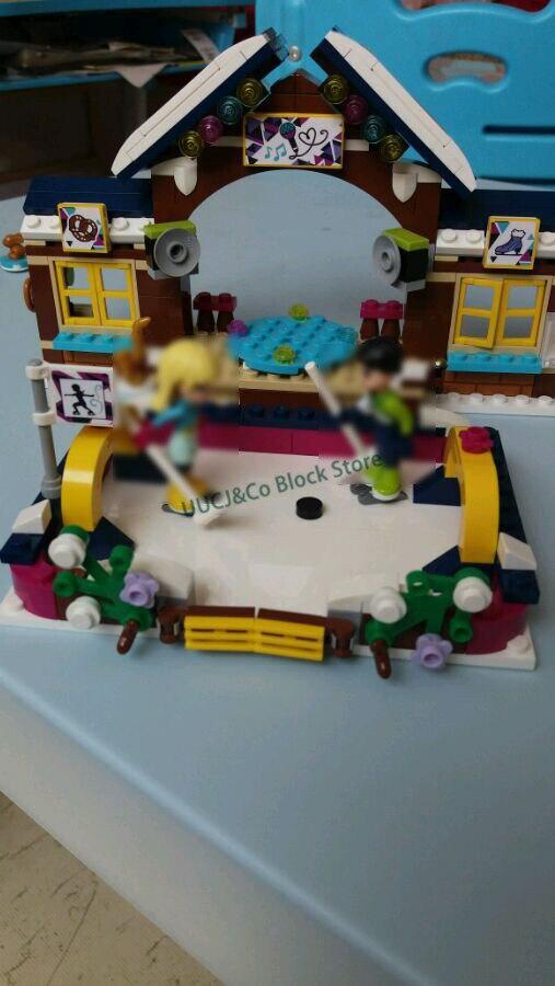 LEPIN 01043 328pcs Friends series Snow Resort Ice Rink Building Blocks Bricks font b Toys b