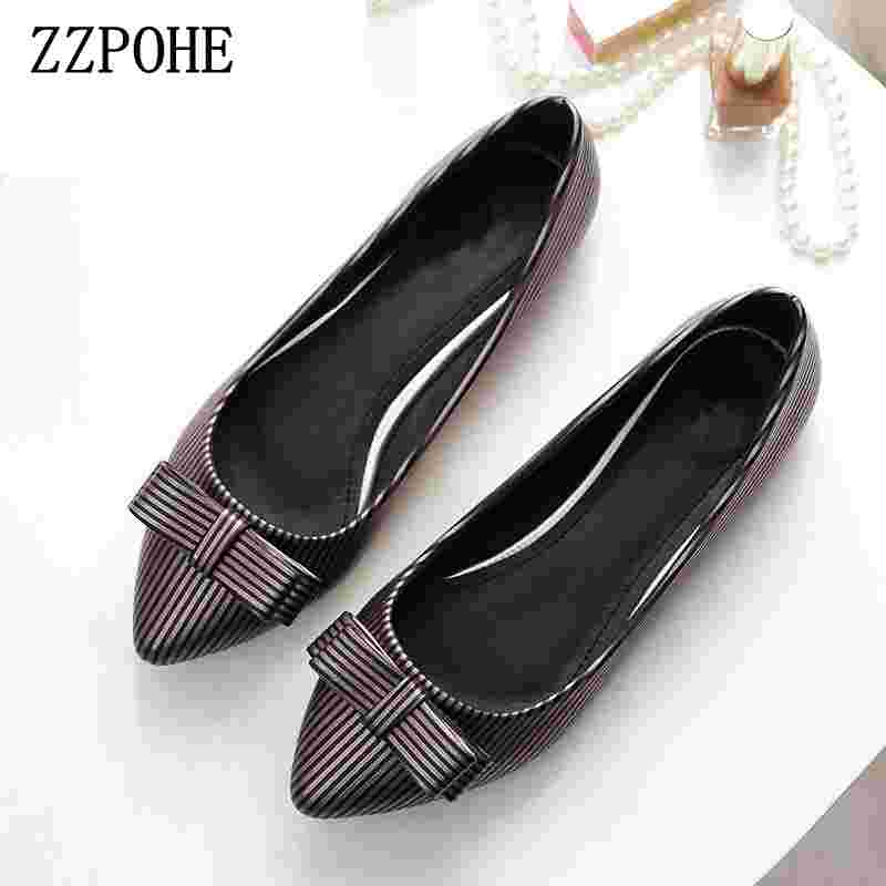 ZZPOHE Shoes Woman Spring Autumn Fashion Genuine Leather Pointed Toe Women's Flats Shoes Lady Slip On Comfort Driving shoes zzpohe spring autumn new women shoes fashion casual slip on pointed toe woman flats shoes female comfort work office shoes