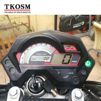 TKOSM Motorcycle Speedometer Digital Universal Electronics Indicator LCD Display Accessories for Racer Speedometer Yamaha FZ16