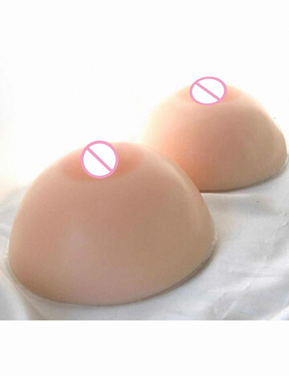 Round Shape 1800G/Pair H Cup Silicone Breast Form False Tit Chest Artificial  Boob Enhancer Bust  For  Transgender Crossdresser
