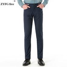 ZYFG Free brand male Fashion casual long pants New 2018 mens personality solid pockets Urban fashion Pants men large Size 30-38