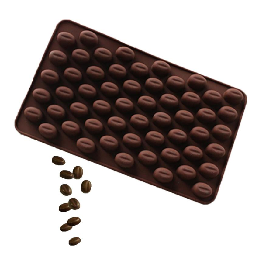 Baking Mold Coffee Bean Chocolate Candy Silicone Bakeware Mould Cake Wax Melts 2JY31 image