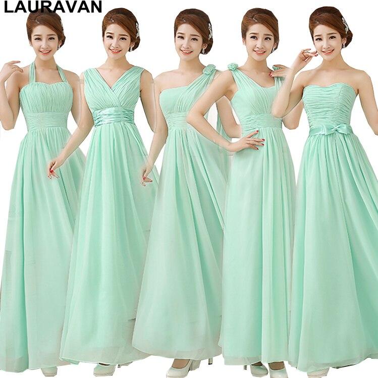 Simple Green Mint Bridesmaid Dress Bridesmades Long Floor