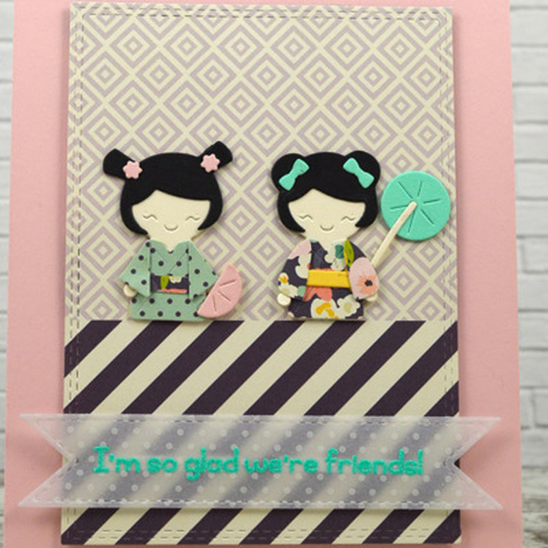 2018 3D Girl DIY New Arrival Metal Cutting Dies and Scrapbooking For Paper Making Girl Embossing Stamp Frame Card Craft Die