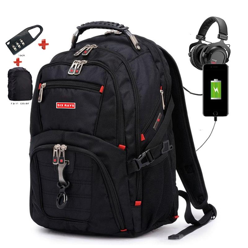 Swiss Men's Backpack 15.6 Inch Computer Notebook Children School Bags Unisex Large Capacity Bagpack Waterproof Kids Schoolbag