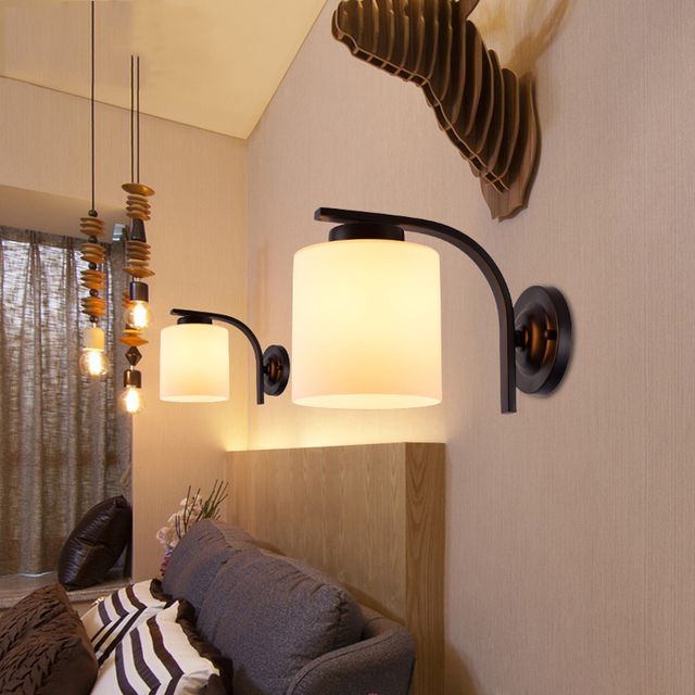 Retro vintage wall lamp bedroom bedside stair aisle wall light ...