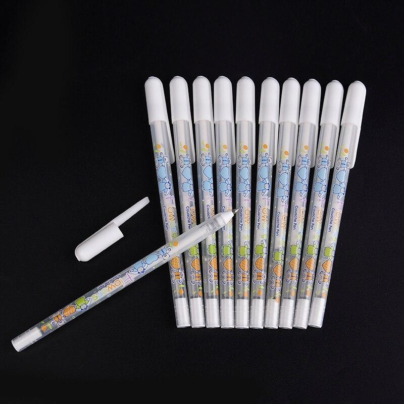 0.8MM White Gel Pen Stationery Office Learning Cute Unisex Pen White Pen Gift For Kids Writing Supplies цена 2017