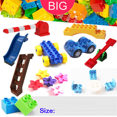 Large Building Block compatible Duplo Parts 62663 seesaw Classic Piece Big Dot Brick Toy Accessory Bricklink D62663 umeile brand farm life series large particles diy brick building big blocks kids education toy diy block compatible with duplo