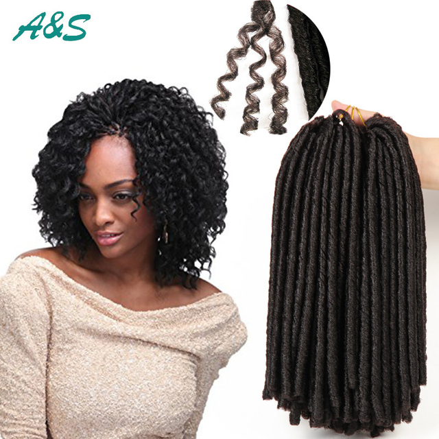 Bob Faux Locs Crochet Hair Synthetic Hair Extension