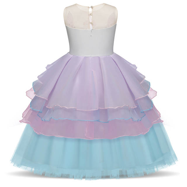 965c3d2cf140f Online Shop Fancy Unicorn Party Tutu Dress Baby Girls Birthday Party Frocks  Children Princess Summer 2018 Costume For Kid Formal Clothing