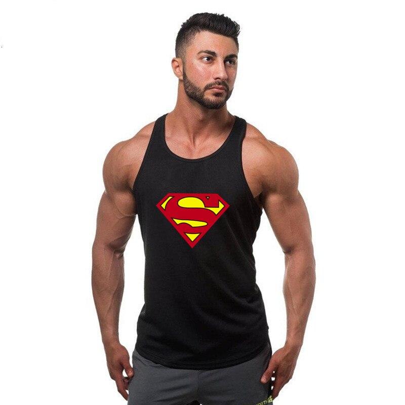 Fitness Men Tank Top Bodybuilding Stringers Superman Tank Tops Singlet Brand gyms Clothing cotton Sleeveless Shirt muscle tops