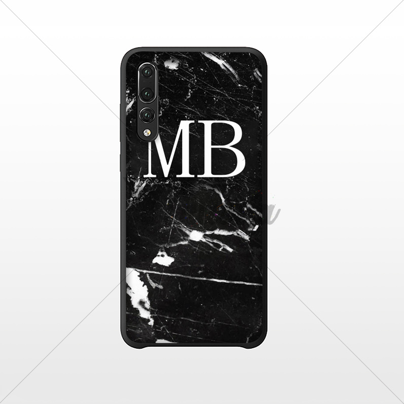 Yinuoda MONOGRAM MARBLE INITIALS TPU Soft Phone Cover for Huawei NOVE3E P20 Pro Mate10 Lite P10 Plus Mate9 10 Honor 10 View 10 in Half wrapped Cases from Cellphones Telecommunications