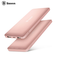 Baseus 10000mAh Dual USB Power Bank For IPhone 6 6s 7 Plus Samsung Xiaomi Powerbank Portable