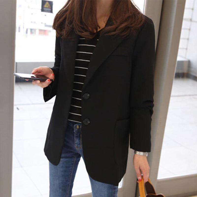 Spring Blazer Women 2020 Plus Size Suit Elegant Female Jackets Women Business Jaqueta Feminina Office Suits Black Outerwear A724