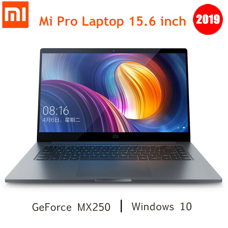 2019 Xiaomi Mi Laptop Pro 15.6 Inch 1080P Windows 10 Intel Quad Core I5/i7 8GB/16GB RAM 256GB SSD Gaming Notebook Fingerprint
