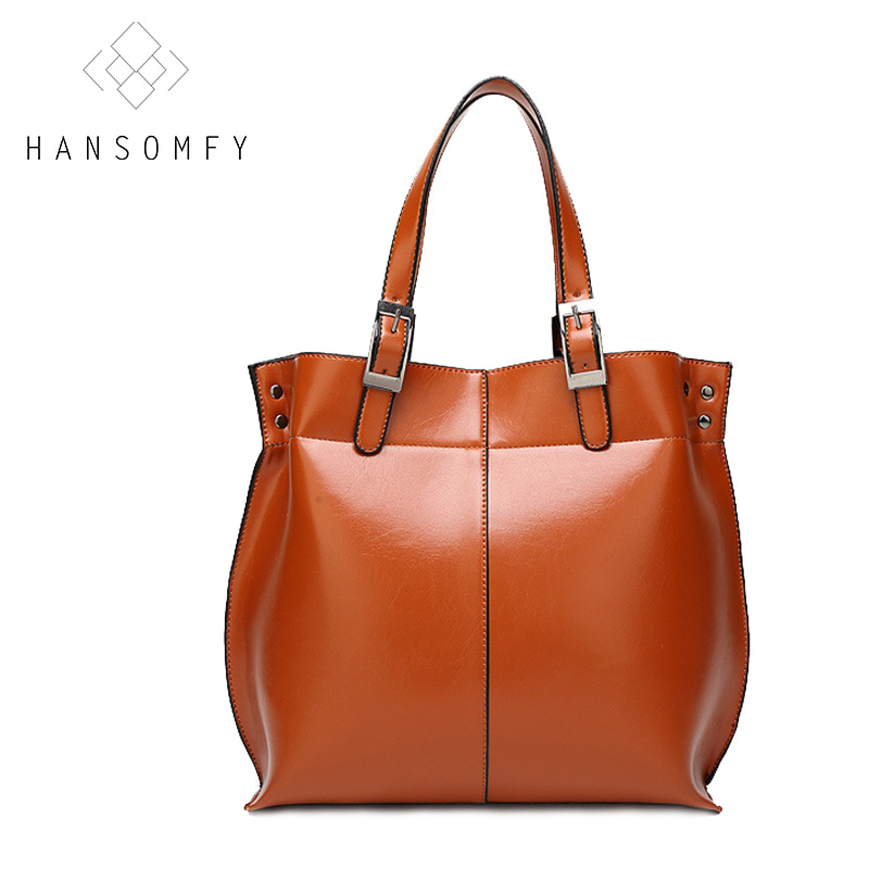 ФОТО HANSOMFY Dress women shoulder bag Vintage leather handbags solid zipper single handbag tote sac Business OL style