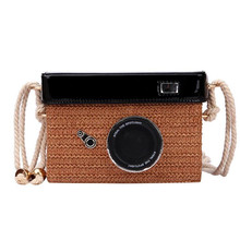 2019 New Straw Camera Bag Women Fashion Shoulder Simple Woven Crossbody Small Square Organizer Handbags