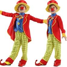 ¡Caliente! niños bebé monos y Rompers + sombrero Halloween carnaval payaso  circo Cosplay ropa 56903edfde9